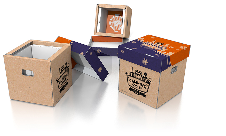 Effective corrugated cardboard cool box for food from easy2cool ...