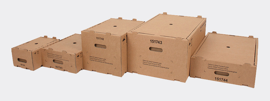 Small load carriers made from corrugated cardboard