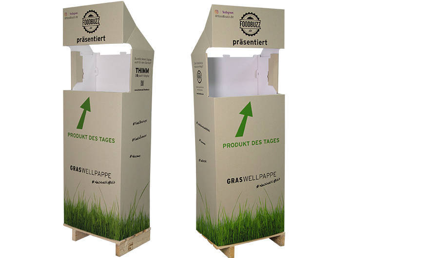 Storage plant consumer packaging made of paper and cardboard